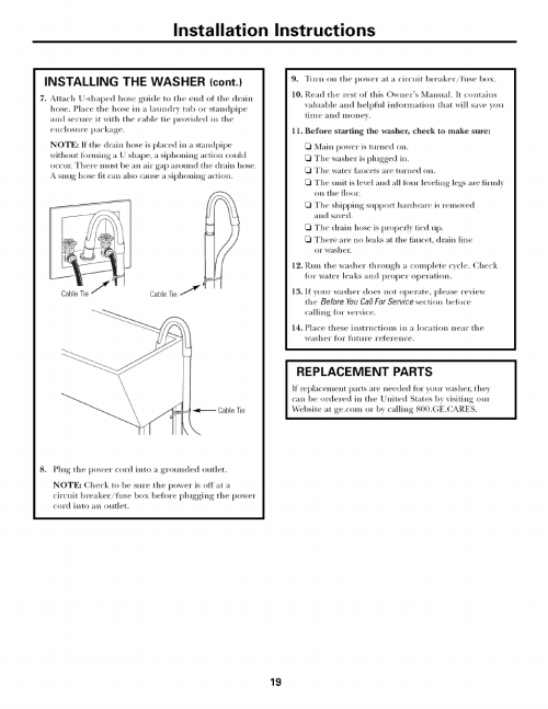 small resolution of replacement parts installation instructions ge laveuses