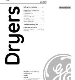 ge front load dryer manual [ 954 x 1235 Pixel ]