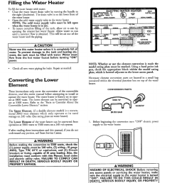 installation instructions cont d filling the water heater a caution kenmore 153 327366 user manual page 10 32 [ 954 x 1215 Pixel ]