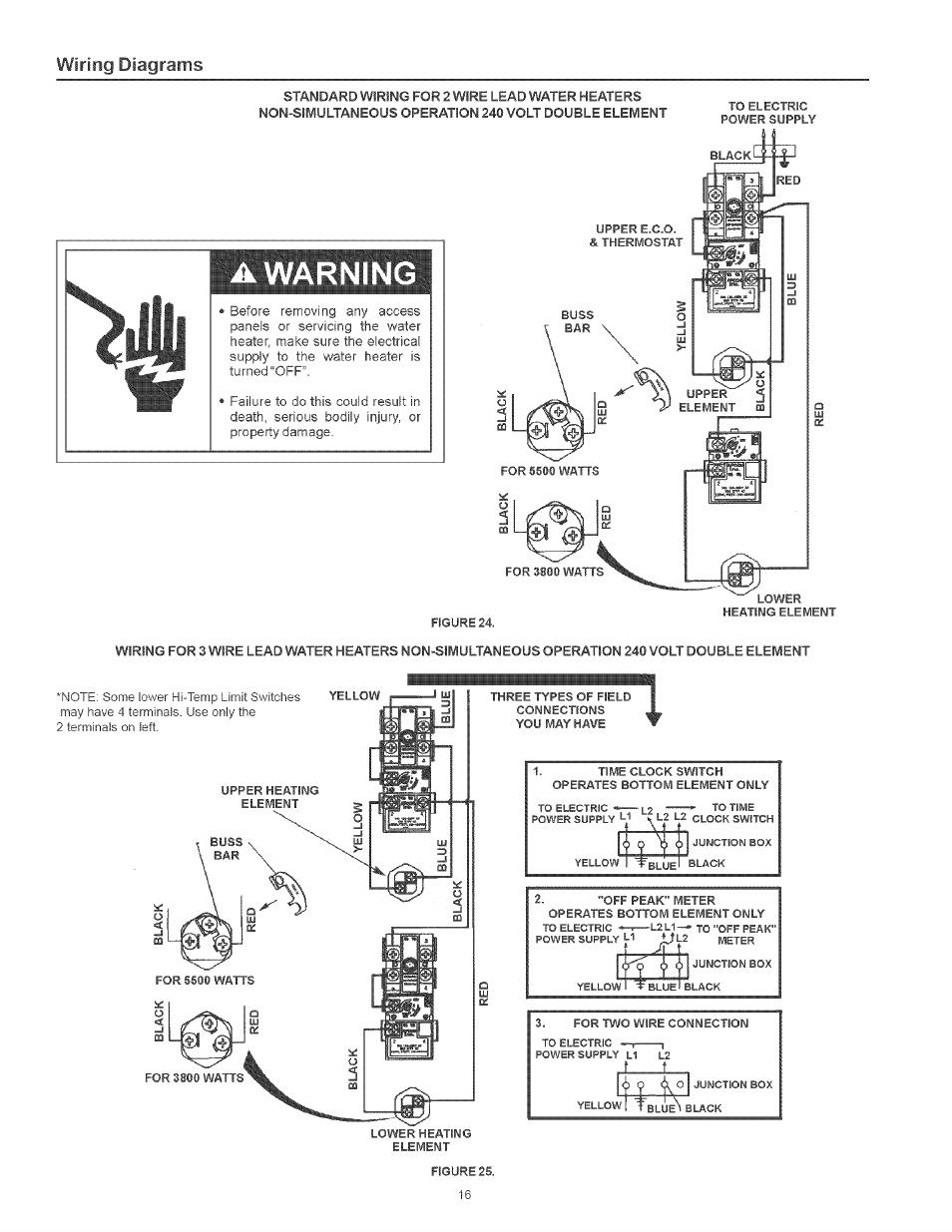 Kenmore Electric Water Heater Wiring Diagram