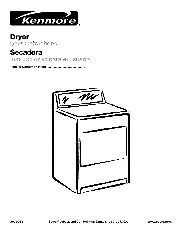 Kenmore 592 dryer manual