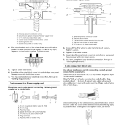wire connection power suppiy cord wire connection direct wire kenmore 110 8509 user manual page 12 60 [ 954 x 1239 Pixel ]