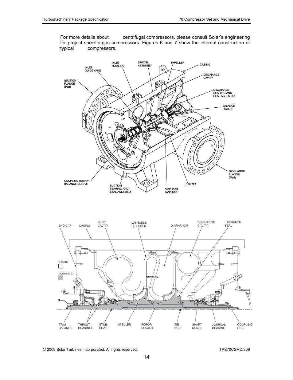 Figure 6, Cutaway diagram of a solar gas compressor