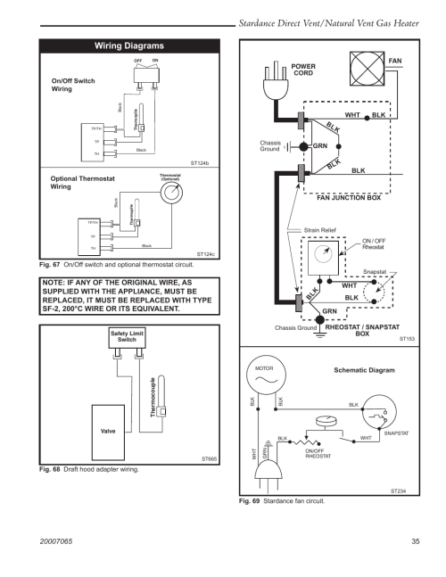 small resolution of stardance direct vent natural vent gas heater wiring diagrams vermont casting stardance sdv30 user manual page 35 44