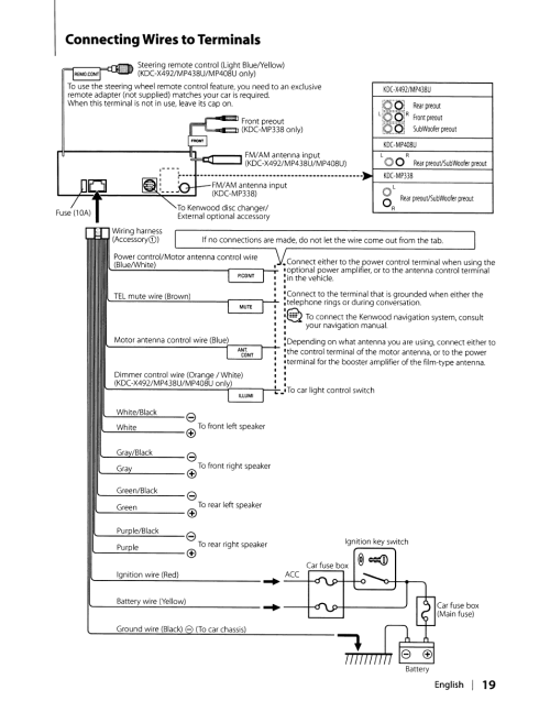 small resolution of kenwood kdc x492 wiring diagram wiring diagram kenwood kdcx492 wiring kdc x492 excelon radio cd
