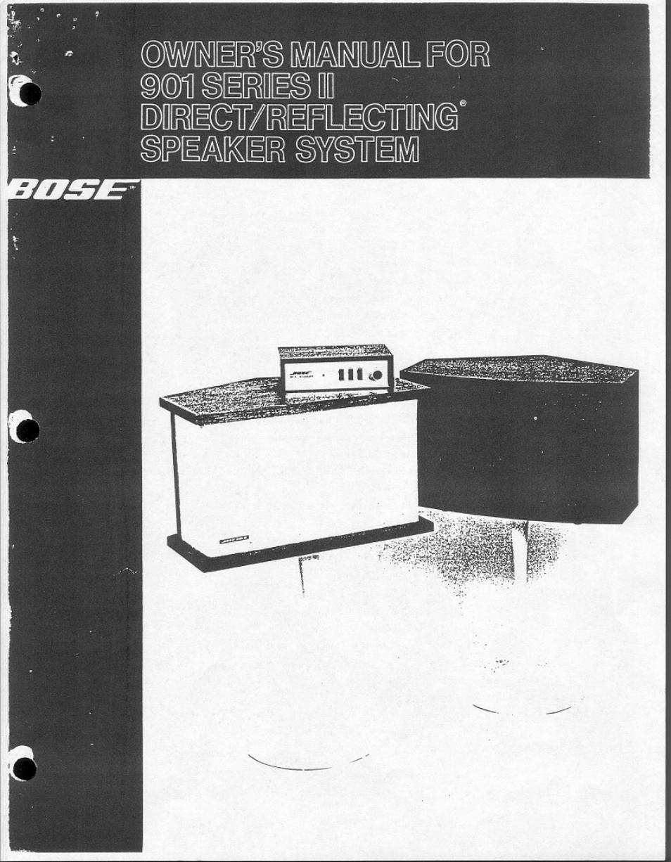 hight resolution of bose 901 series ii user manual 16 pages rh manualsdir com bose 901 series 1 equalizer manual 901 bose amplifier wiring diagram