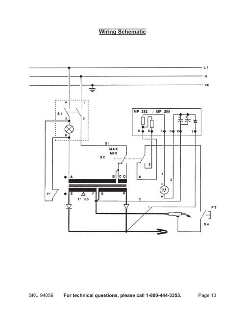 small resolution of chicago electric mig 100 94056 user manual page 13 14chicago wiring diagram 10