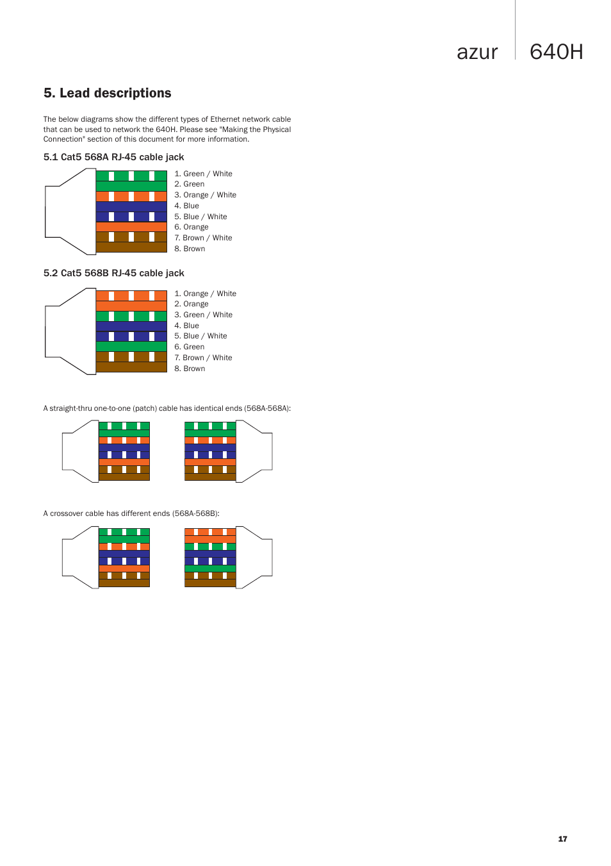medium resolution of 640h azur lead descriptions cambridge audio azur 640h user manual page 17 18