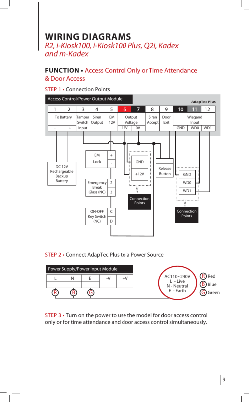 small resolution of  wiring diagrams fingertec adaptec plus user manual page 9 20 on access control
