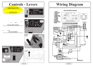 Wiring diagram controls  levers | Countax A50 User Manual