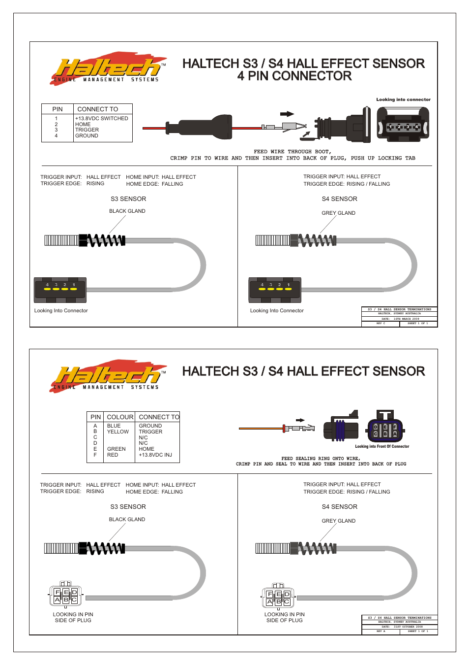 hight resolution of  manual page 98 99 haltech s3 s4 hall effect sensor 4 pin connector haltech s3 s4 rh manualsdir com hall