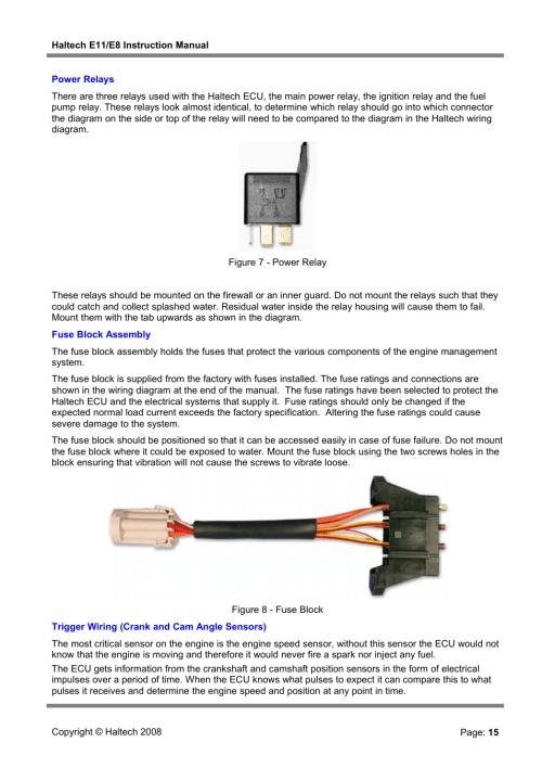 Haltech Wiring Diagram - on