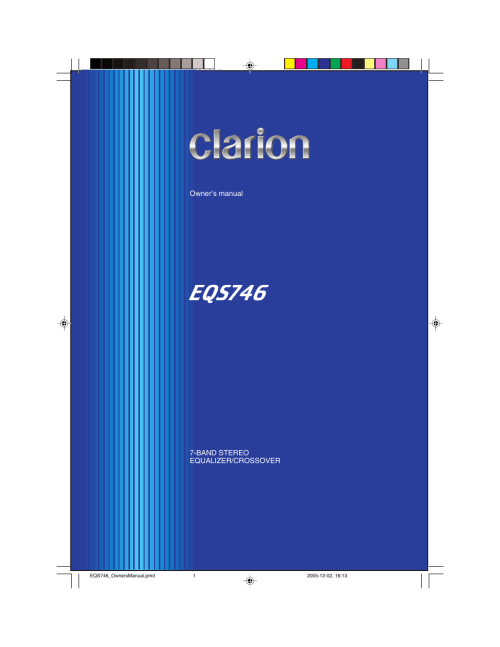 small resolution of  array clarion eqs746 user manual 16 pages rh manualsdir