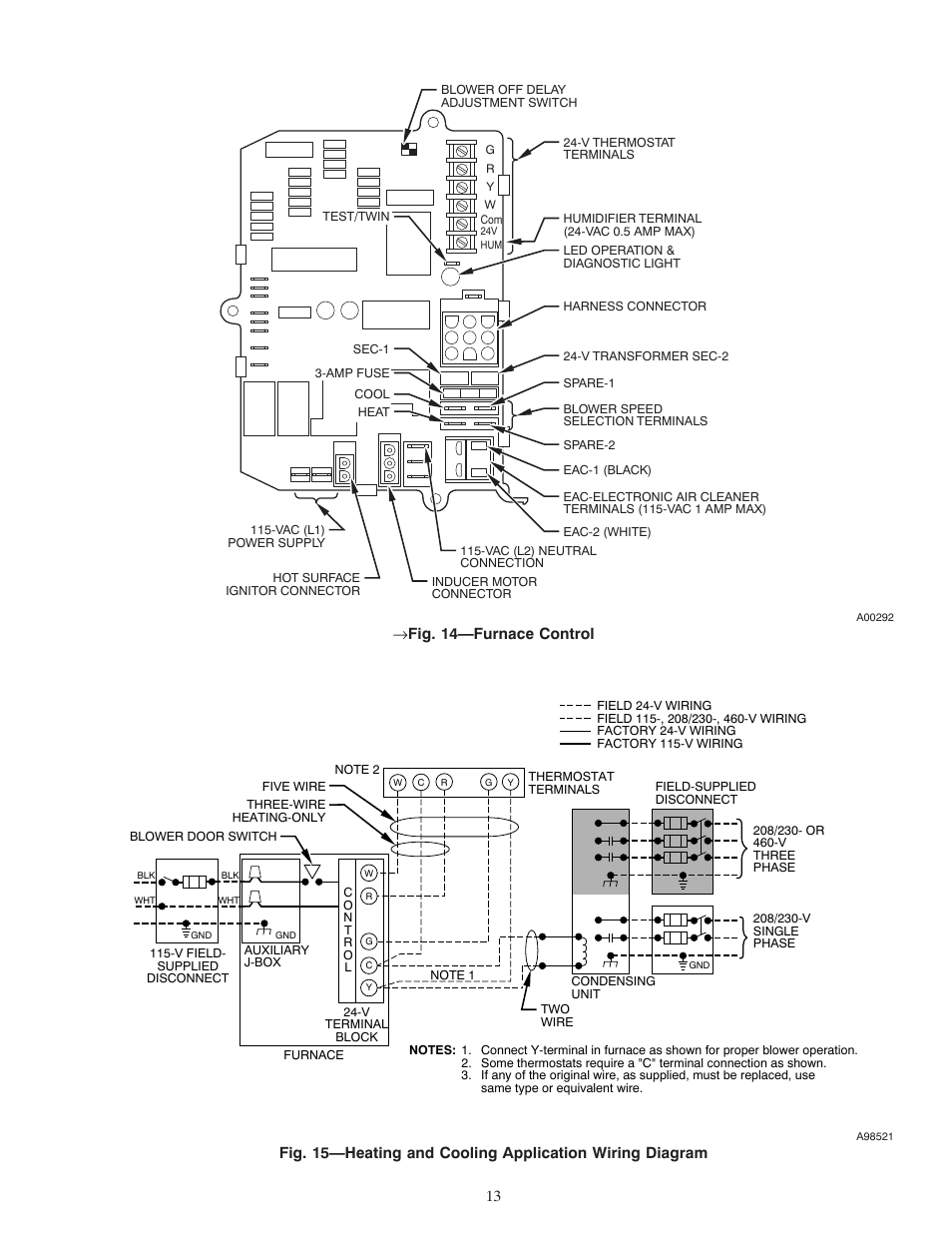 medium resolution of 14 furnace control carrier weathermaker 8000 58zav user manual page 13 24
