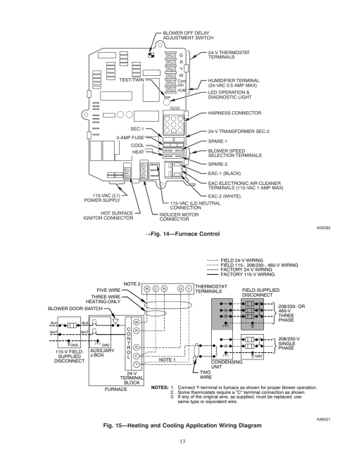 small resolution of 14 furnace control carrier weathermaker 8000 58zav user manual page 13 24