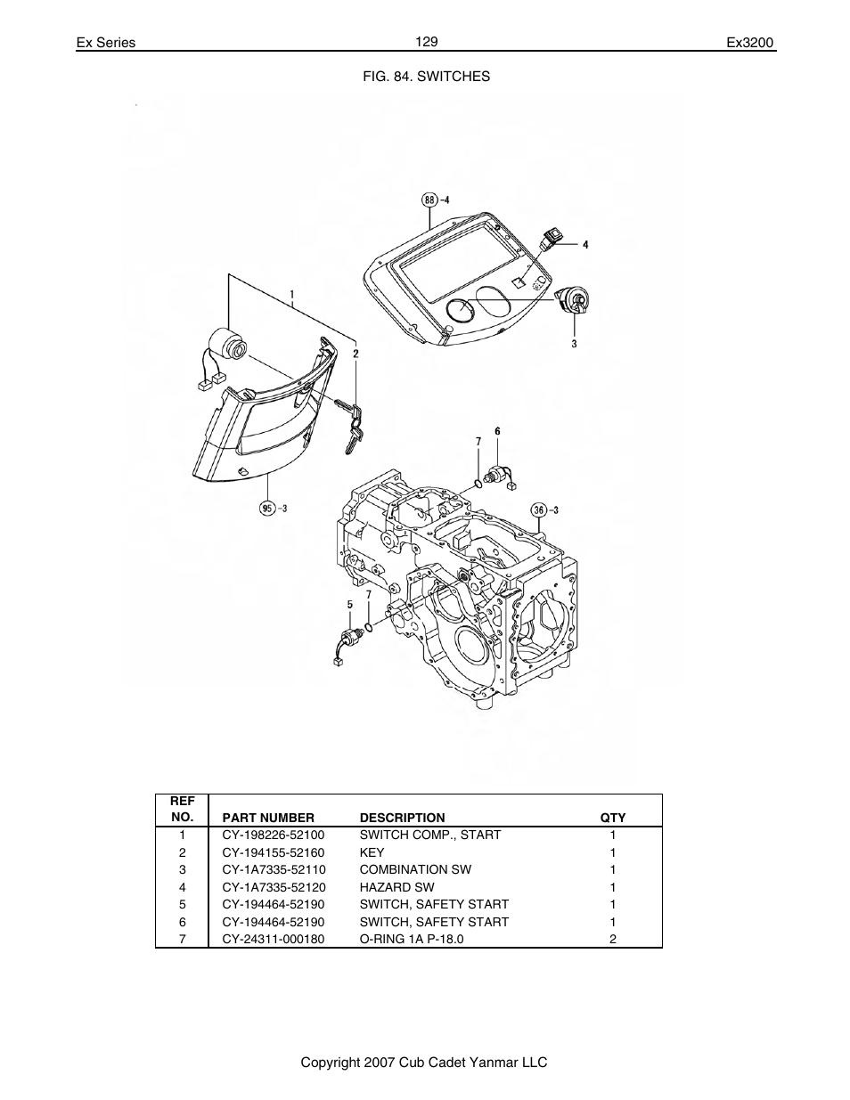 hight resolution of cub cadet 129 part diagram