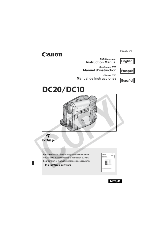 CANON DC20 MANUAL PDF