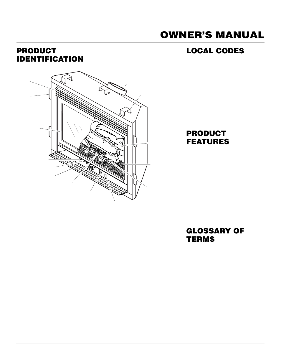 Owner's manual, Product identification, Local codes