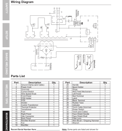 wiring diagram parts list chicago electric wire feed welder mig 170 user manual page 30 32 [ 954 x 1324 Pixel ]