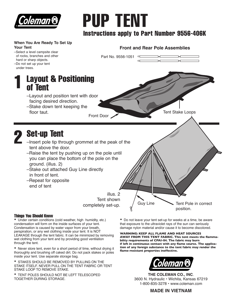 Coleman Pup Tent & View Larger