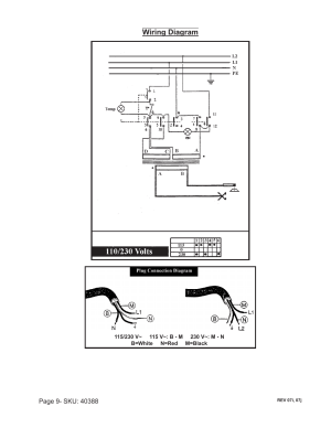 Wiring diagram | Chicago Electric 40388 User Manual | Page