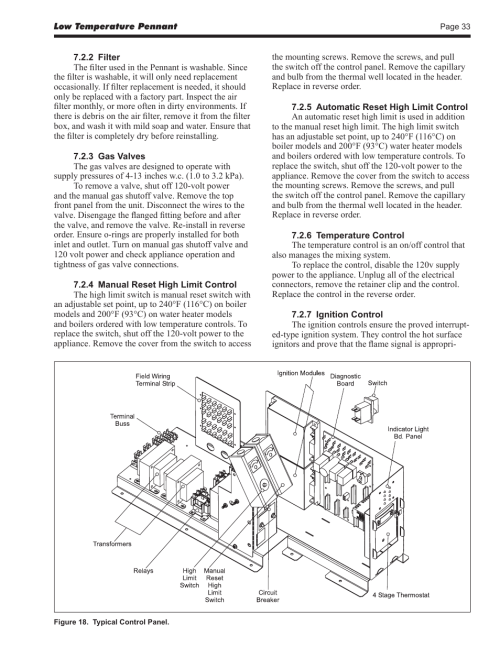 small resolution of laars pennant pncv install and operating manual user manual page 33 44 also for pennant pnch install and operating manual