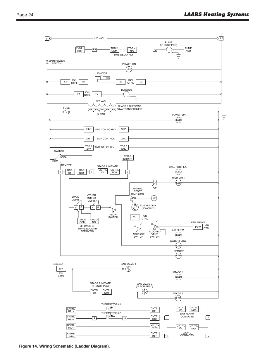 medium resolution of laars heating systems figure 14 wiring schematic ladder diagram laars pennant