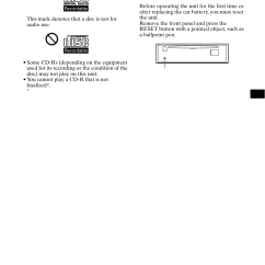 Sony Cdx Ca650x Wiring Diagram Bass Guitar 2 Pickups Getting Started Resetting The Unit User Manual Page 7