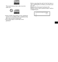 getting started resetting the unit sony cdx ca650x user manual page 7 [ 954 x 1352 Pixel ]