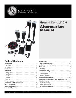 Lippert Components Ground Control 30 Aftermarket User Manual | 20 pages