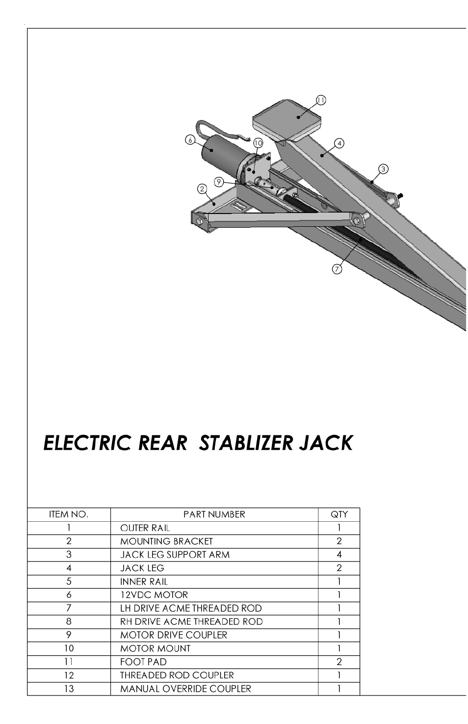 Lippert Components Electric Rear Stabilizer Jack User