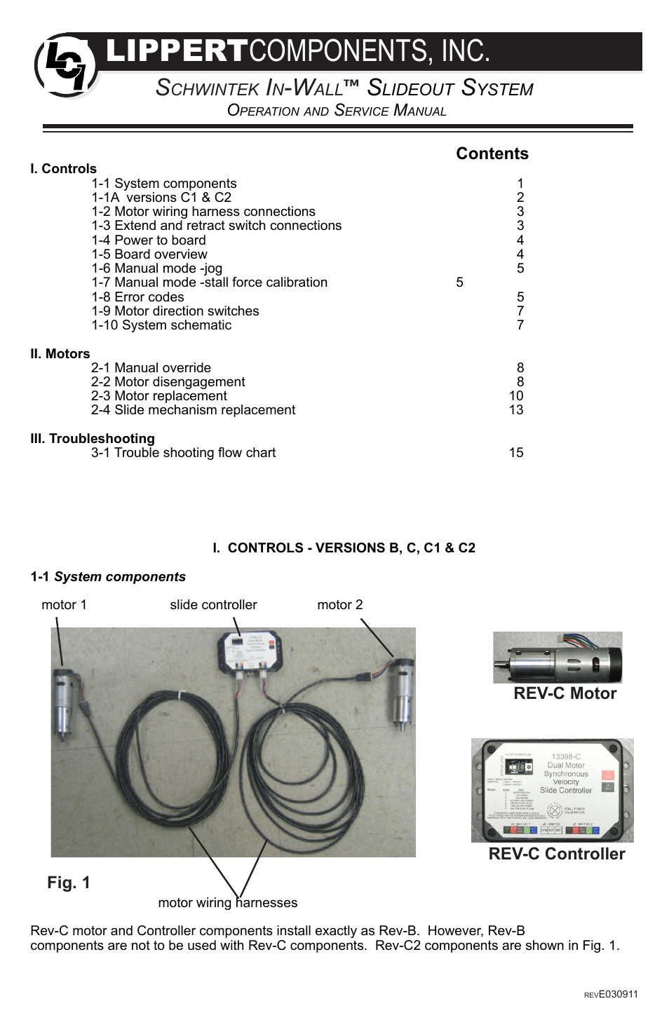 medium resolution of  lippert components in wall slide out system user manual 16 pages on slide out