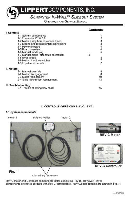 small resolution of  lippert components in wall slide out system user manual 16 pages on slide out
