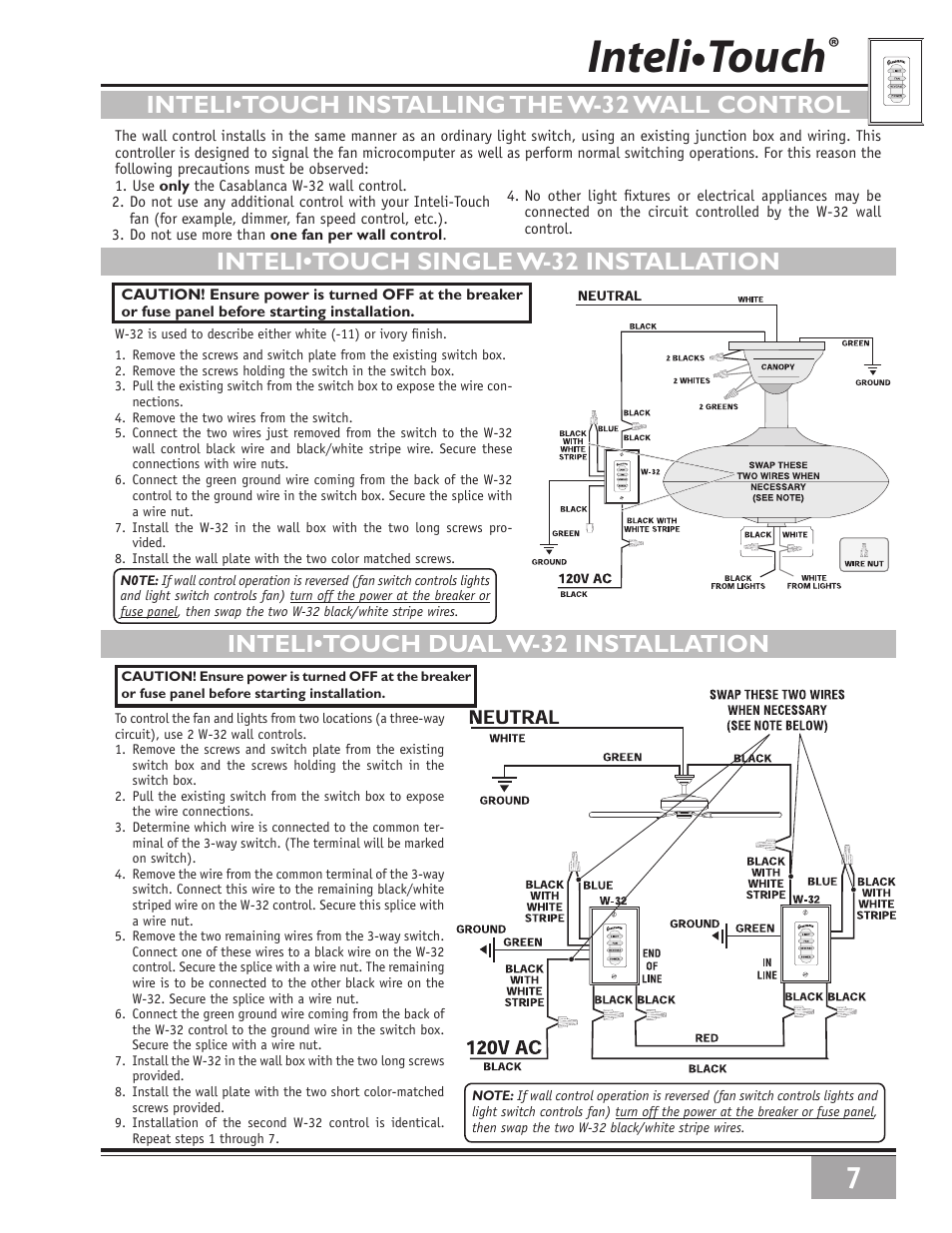 User's manual of Chapter Mainstays 3 Speed 4 Wire Ceiling