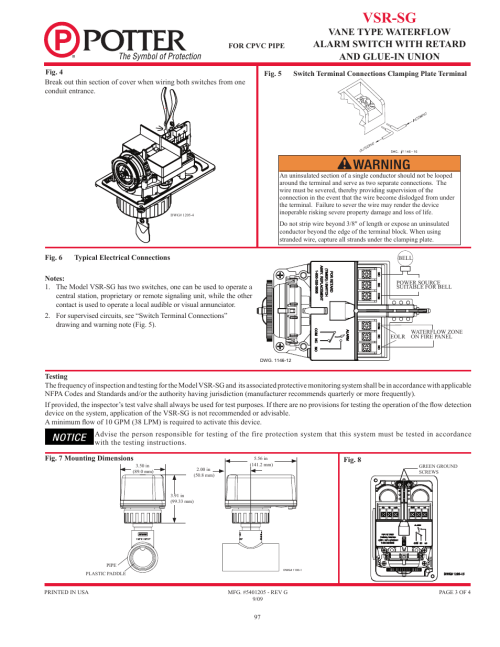 small resolution of  wiring diagram vsr sg potter releasing systems user manual page 97 108 on fire