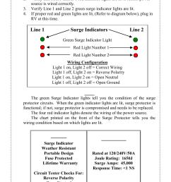 smart surge instructions line 1 surge indicators line 2 progressive industries ssp 50 user manual page 2 4 [ 954 x 1475 Pixel ]