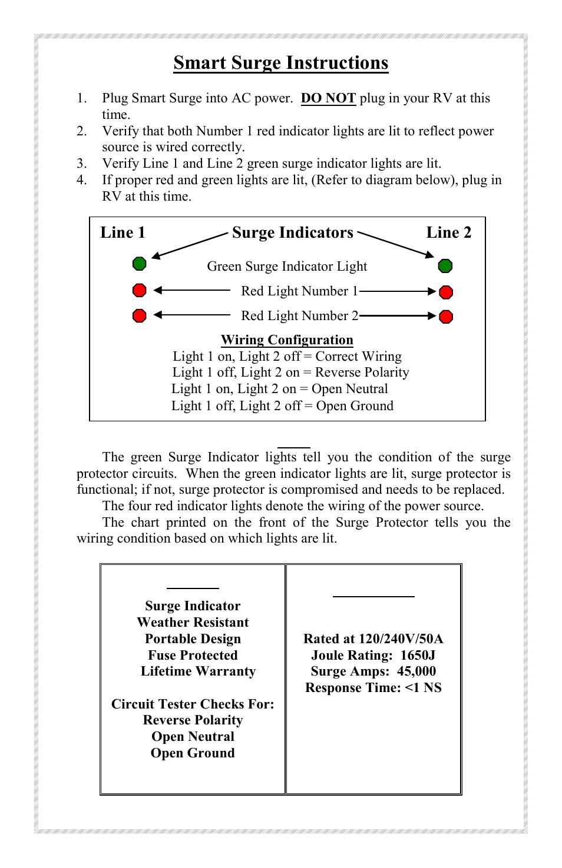 hight resolution of smart surge instructions line 1 surge indicators line 2 progressive industries ssp 50 user manual page 2 4