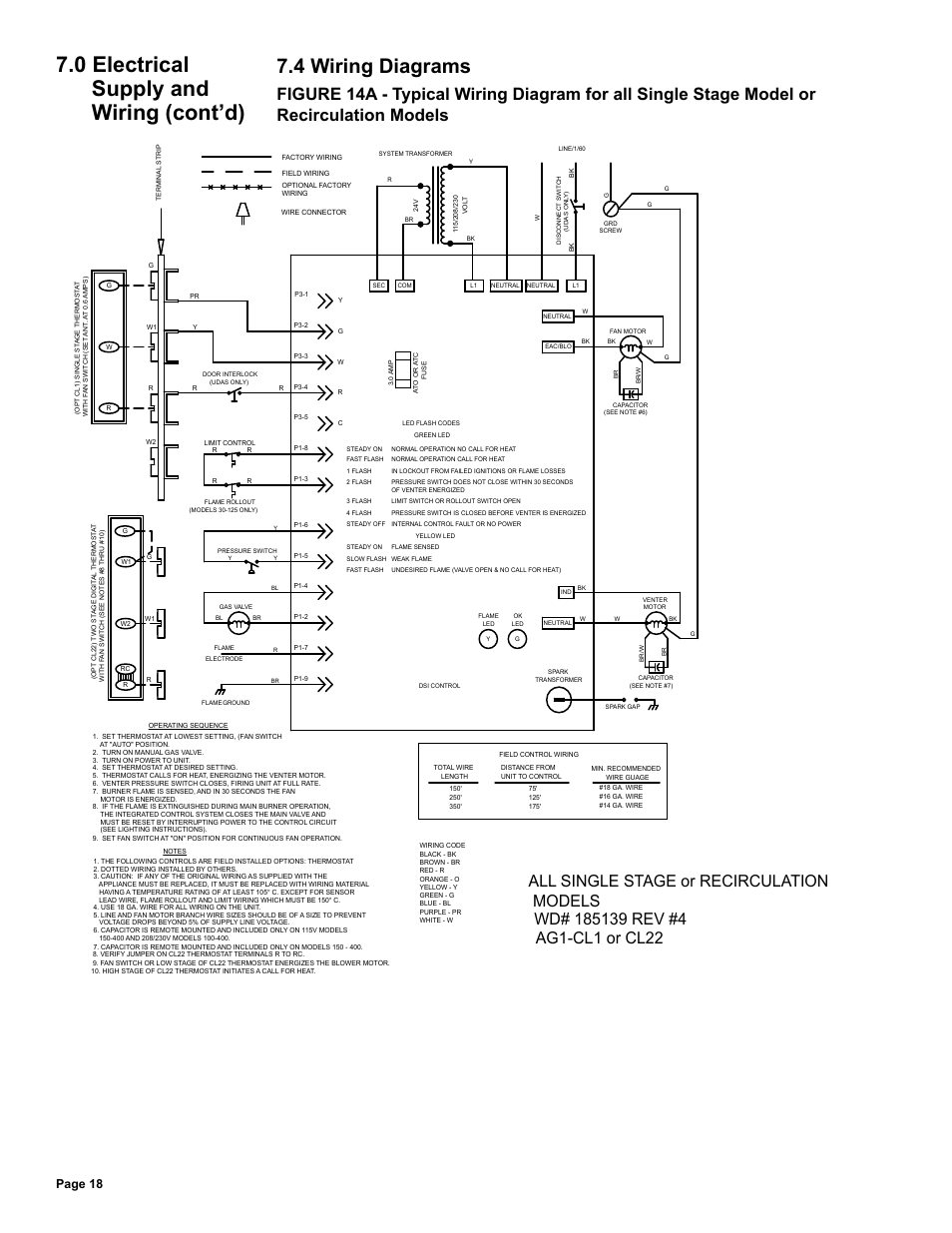 medium resolution of 4 wiring diagrams 0 electrical supply and wiring cont d page 18 reznor udas unit installation manual user manual page 18 40