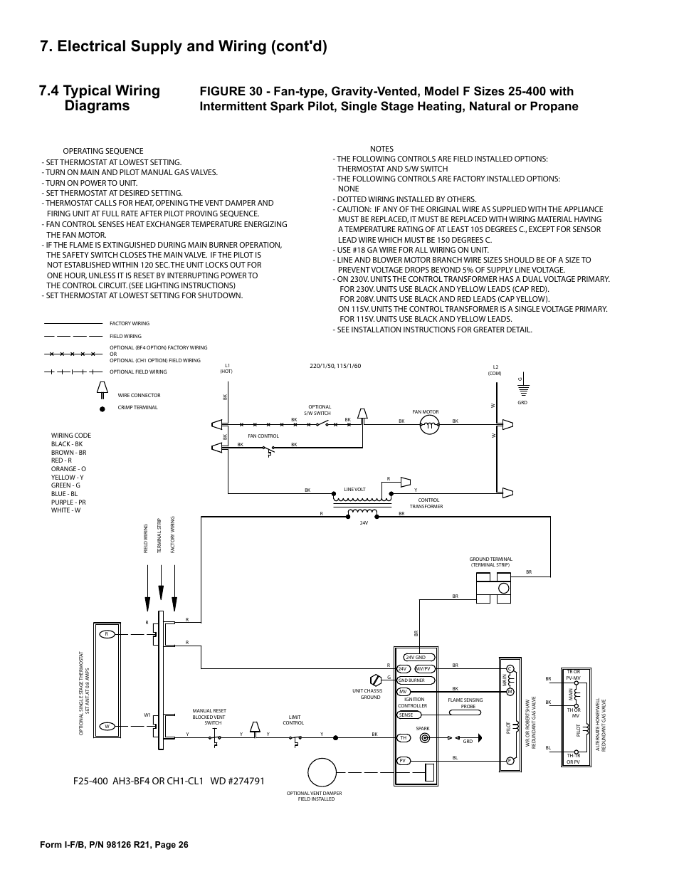 reznor b unit installation manual page26 reznor wiring diagram reznor wiring diagram at bayanpartner.co