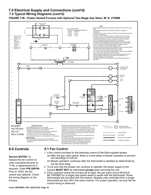 small resolution of typical control wiring on furnace reznor wiring diagram centre1 fan control 4 typical wiring diagrams