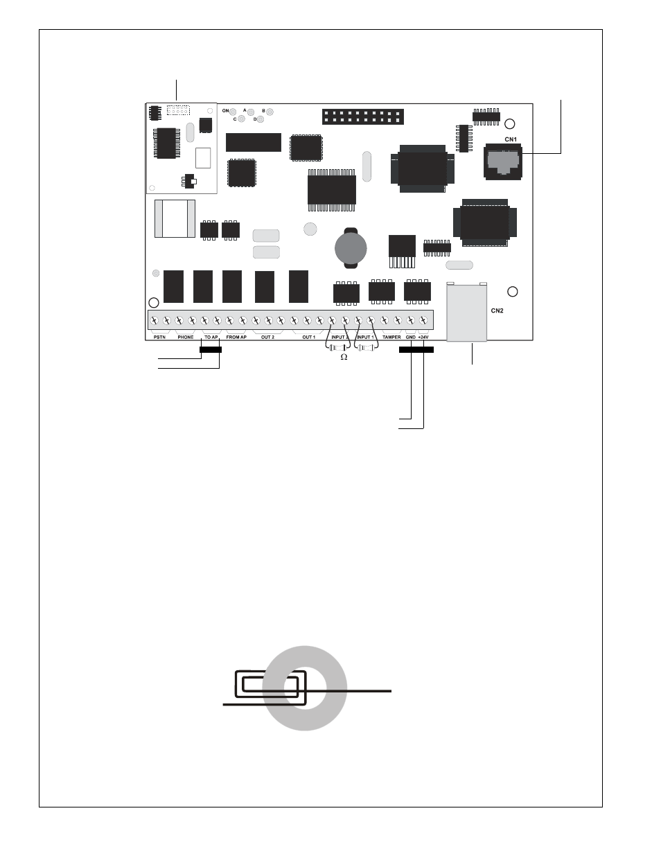 hight resolution of ferrite bead installation figure 6 ipdact 2 and ipdact 2ud wiring figure 7 ferrite bead installation silentknight ip communicator user manual page 8