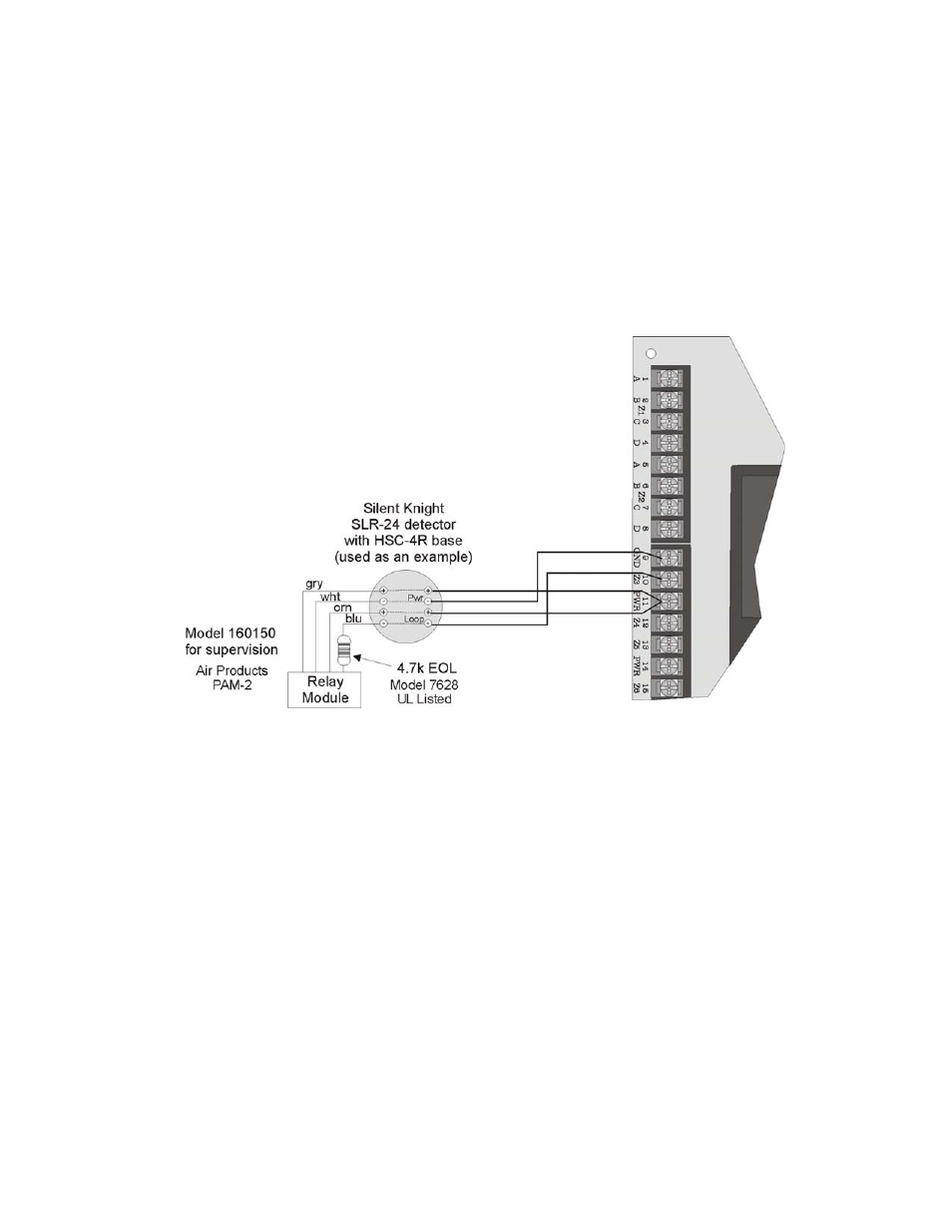 hight resolution of 3 four wire smoke detector connection 3 four wire smoke detector connection 12 silentknight sk 5208 conventional facp 10 30 zone user manual page 22