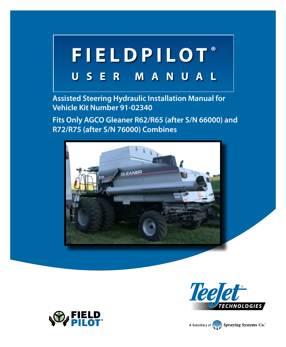 hight resolution of  array teejet fieldpilot install acgo gleaner r62 65 72 75 user manual 20 rh manualsdir