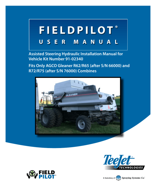 small resolution of  array teejet fieldpilot install acgo gleaner r62 65 72 75 user manual 20 rh manualsdir
