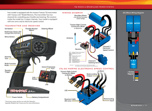 Wiring diagram, Vxl6s marine electronic speed control | Traxxas 5709L User Manual | Page 11  30