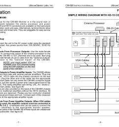 installation figure 3 simple wiring diagram with hd 15 connectors usl cm 680 user manual page 8 16 [ 1235 x 954 Pixel ]