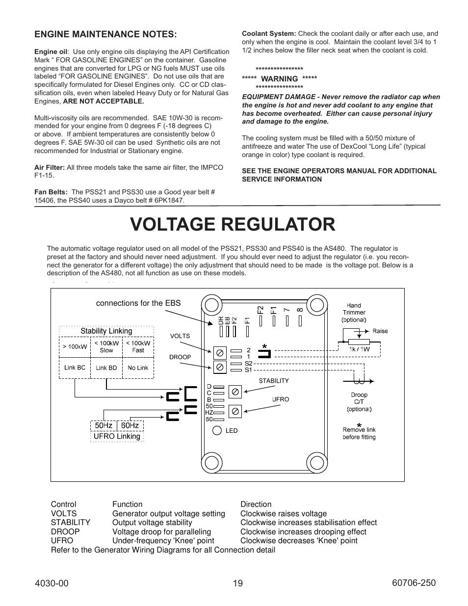 medium resolution of voltage regulator automatic voltage regulator avr winco ulpss40 i with dse 7310 engine control 2014 user manual page 19 24