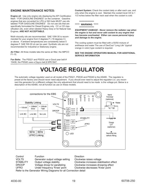 small resolution of voltage regulator automatic voltage regulator avr winco ulpss40 i with dse 7310 engine control 2014 user manual page 19 24
