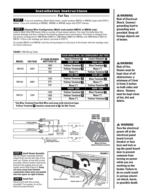 small resolution of installation instructions cadet the register plus rm108 user manual page 3 8
