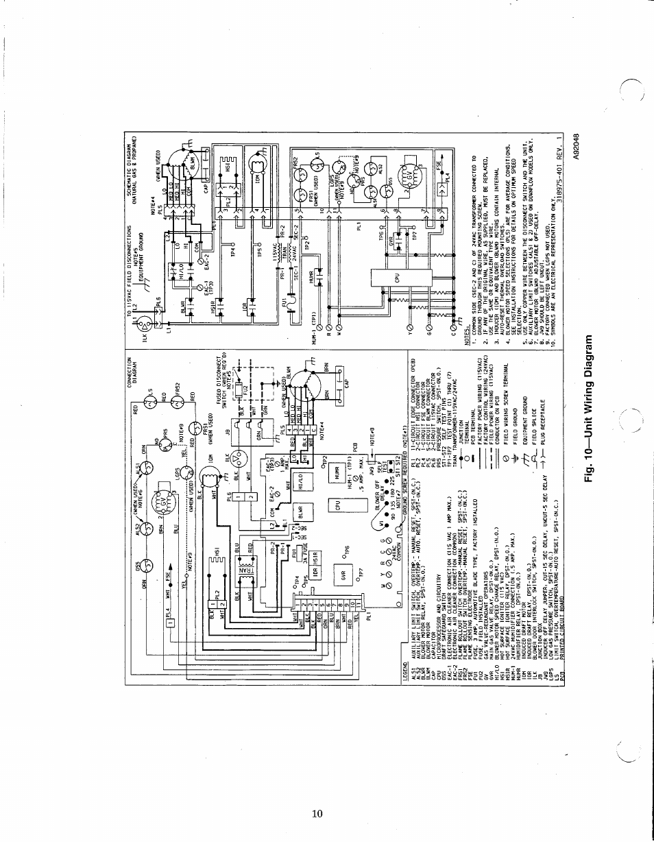 hight resolution of 10 unit wiring diagram carrier weathermaker 8000 58wav user manual page